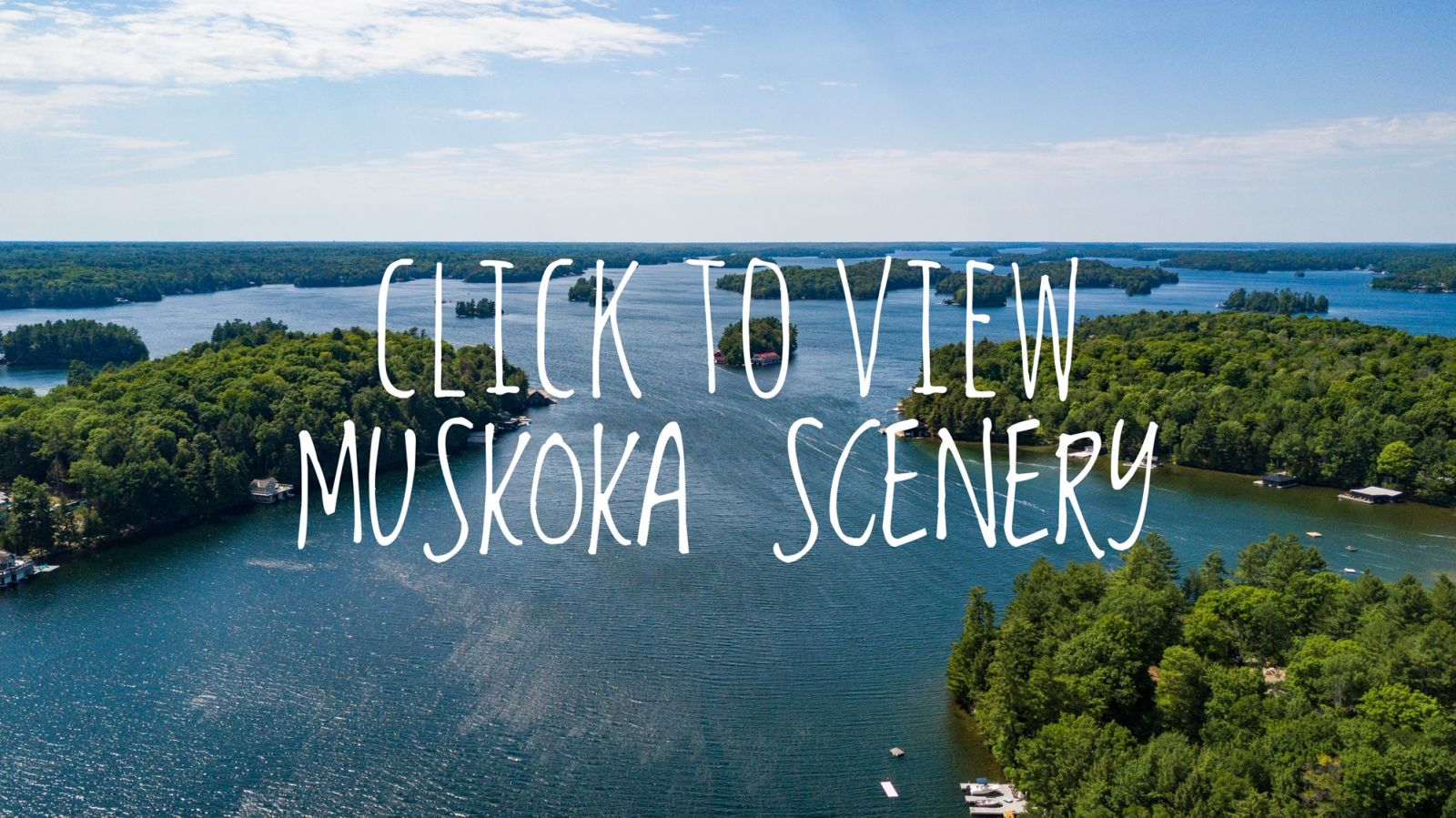 Muskoka Cottage Real Estate Scenery Photos