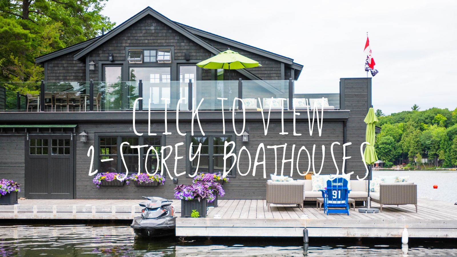 Muskoka boathouses with living quarters lakes rosseau joseph real estate
